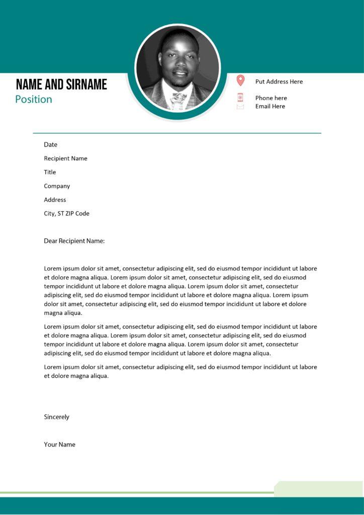 cover letter for cv south africa